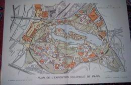 Plan De L'EXPOSITION COLONIALE DE PARIS 1931 - Supplément De L'Illustration Du 27 Juin 1931 - Maps