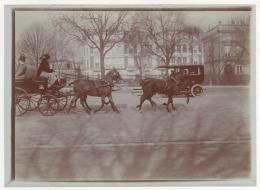 ° PARIS 1910 ° Mlle Martinez De Haz Au Bois ° DILIGENCE ° CALECHE ° ATTELAGE ° AUTOMOBILE ° - Photos