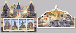 TOGO 2017 - Buddhist Temples, M/S + S/S. Official Issue. - Buddhism