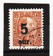 MAG1374  ISLAND 1921  Michl 104 Used / Gestempelt  ZÄHNUNG Siehe ABBILDUNG - 1918-1944 Unabhängige Verwaltung