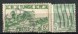 TUNISIE - Yv  N° 288,288B,  (o)  5f,5f  Cote  0,75 Euro  BE - Usados