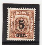 MAG1376  ISLAND 1921  Michl 105 Used / Gestempelt  ZÄHNUNG Siehe ABBILDUNG - 1918-1944 Unabhängige Verwaltung