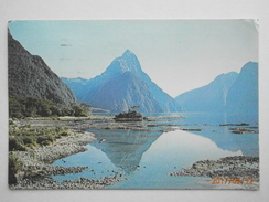 Postcard Mitre Peak Milford Sound Fjordland South Island New Zealand PU 1973 My Ref B21853 - New Zealand