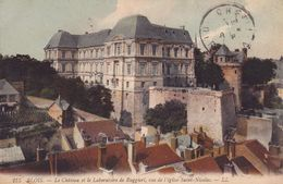 CPA - 41 - BLOIS - Le Château Et Le Laboratoire De Ruggiéri Vus De L'église Saint Nicolas - 275a - Blois