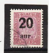 MAG1380  ISLAND 1921  Michl 107 Used / Gestempelt  ZÄHNUNG Siehe ABBILDUNG - 1918-1944 Unabhängige Verwaltung