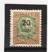 MAG1383  ISLAND 1921  Michl 108 Used / Gestempelt  ZÄHNUNG Siehe ABBILDUNG - 1918-1944 Unabhängige Verwaltung