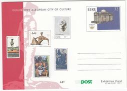 Dublin 1991 European City Of Culture : ART - An Post 1991 - Post Exhibition Card - (Ireland) - Ierland