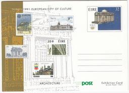Dublin 1991 European City Of Culture : ARCHITECTURE - An Post 1991 - Post Exhibition Card - (Ireland) - Ierland