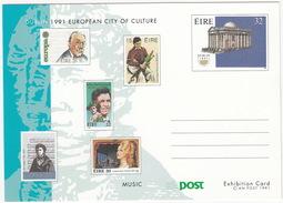 Dublin 1991 European City Of Culture : MUSIC - An Post 1991 - Post Exhibition Card - (Ireland) - Ierland