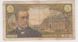 FRANCE 5 Francs Pasteur 6/2/1969 61/9 E.91 VG - 5 F 1966-1970 ''Pasteur''