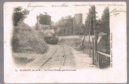 BLAMONT . Le Vieux Château Pris De La Gare . - Blamont