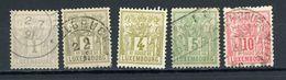 LUXEMBOURG : DIVERS N° Yvert  47/51 Obli - 1882 Allegory