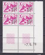 N° 157 Préoblitérés Signes Du Zodiaque: Gémeaux:  Bloc Coins Datés  7.6.78 Neuf Impeccable - Vorausentwertungen