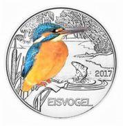 Autriche 2017 : 3€ 'Martin-Pêcheur' ('Eisvogel') Colorisée - Disponible En France - Austria