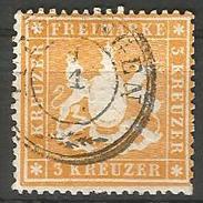 Württemberg. Wappen Von Württemberg, Nr. 17 Ya Gestempelt - Wuerttemberg