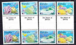 "Greenpeace 1999 Tuvalu Corals 4v Gutter ""The House Of Questa""  ** Mnh (36783) - Tuvalu"