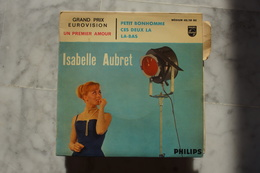 ISABELLE AUBRET UN PREMIER AMOUR EP DE 1962 EUROVISION . VARIANTE.LANGUETTE - 45 T - Maxi-Single