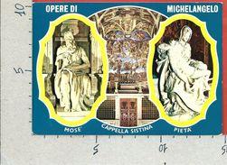 CARTOLINA NV ITALIA - ROMA - Opere Di MICHELANGELO - Mosè - Pietà - Vedutine - 10 X 15 - Sculture
