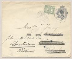 Nederlands Indië - 1919 - Envelop Met Bijfrankering Van KBu SAMARINDA Naar KBu KADIPATEN En Verder Naar Amsterdam / NL - Nederlands-Indië
