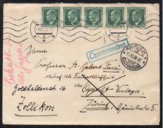 TCHECOSLOVAQUIE - BRÜNN - BRNO / 1938 LETTRE CENSUREE POUR LA SUISSE - REEXPEDIEE (ref 1372) - Czechoslovakia