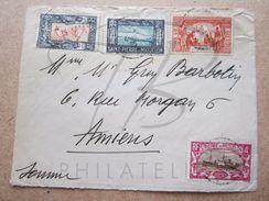VEND TIMBRES DE SAINT-PIERRE ET MIQUELON N° 134 + 137 + 138 + 142 , SUR FACADE !!! - Lettres & Documents