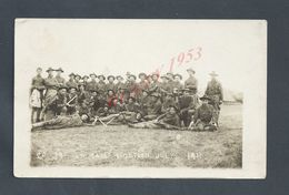 MILITARIA CARTE PHOTO MILITAIRE US ARMY SOLDIER AMERICAIN CAMP FORTSON JULY 1911 NON ECRITE : - Characters