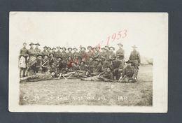 MILITARIA CARTE PHOTO MILITAIRE US ARMY SOLDIER AMERICAIN CAMP FORTSON JULY 1911 NON ECRITE : - Personen