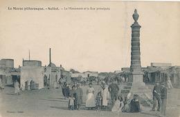 SETTAT - LE MONUMENT ET LA RUE PRINCIPALE - Maroc