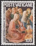 """591 Vaticano 1975 """"Predica Di S. Stefano..."""" Quadro Dipinto Da Fra Angelico Anno Della Donna MNH Paintings Tableau - Quadri"""