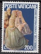 """592 Vaticano 1975 """"Predica Di S. Stefano..."""" Quadro Dipinto Da Fra Angelico Anno Della Donna MNH Paintings Tableau - Quadri"""