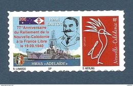 NOUVELLE CALEDONIE (New Caledonia)- Timbre Personnalisé - 2017 - France Libre - New Caledonia