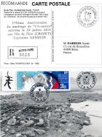 TAAF 1995 - Hommage Au Capitaine Lesquin. Naufrage Du Bateau L'Aventure à Crozet. Yv. PA 136 Phoques   ..Réf.TAF20857 - Terres Australes Et Antarctiques Françaises (TAAF)