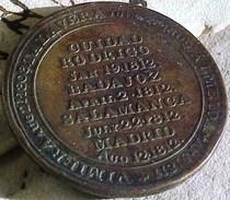 1812 CUIDAD RODRIGO BADAJOZ SALAMANCA PENINSULAR WAR 1/2 PENNY TOKEN Duke Of Wellington , JETON GUERRE Vs NAPOLEON 1° - 1662-1816 : Anciennes Frappes Fin XVII° - Début XIX° S.