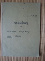 Studienbuch Medizin Von 1937 Beginnend In Bonn, Bis München Und Graz, Mit Lichtbild Und Vielen Eintragungen, Von 1937-41 - Documents Historiques