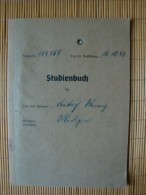 Studienbuch Medizin Von 1942 Universität Göttingen, Mit Lichtbild Und Einigen Eintragungen 1942-43 - Documenti Storici
