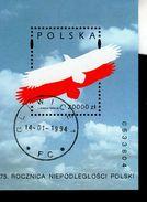 Polen Block 124 Unabhängigkeitstag Used Gestempelt (2) - Blocks & Sheetlets & Panes