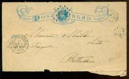 Nederland 1888 Postblad Met Frankering 5 Cent Van Den Haag Naar Rotterdam - Period 1852-1890 (Willem III)