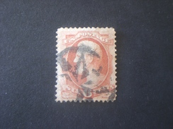 UNITED STATES EE.UU ÉTATS-UNIS US USA 1870 Lincoln 6c Brown Red Varietè Color Scott N.148 - Used Stamps