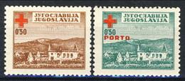 Trieste Zona B 1948 Serie N. 4 - 5 Pro Croce Rossa MNH Gomma Origina Integra Cat. € 400 Firmato A. Diena - Mint/hinged