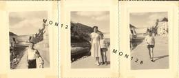 LE BARRAGE DU CHASTANG CORREZE 1958 - 3 PHOTOS ORIGINALES Dim 8x11 Cms - Lieux