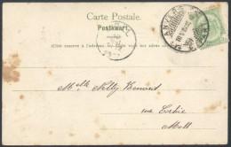 ZZ183 Carte De Anvers à Moll 1907 Cachet à Pont - 1893-1907 Coat Of Arms