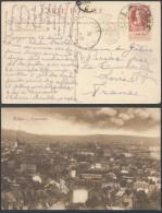ZZ186 Carte  De Liège à La Curballe France  1906 Cachet à Pont - 1905 Grosse Barbe