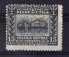 ITALIE - ERYTHREE - 1910/29 - N° 39A (dentelé 13½) - Neuf * - Palais Du Gouvernement à Massaouah - Cote 200 - Eritrea