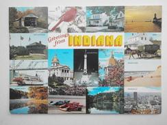 Postcard Greetings From Indiana PU Kokomo In 1990 My Ref B21860 - Greetings From...