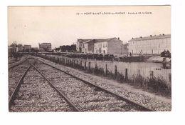 13 Port Saint Louis Du Rhone Avenue De La Gare Cpa Cachet St Louis - France