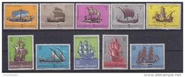 San Marino 1963 Ships 10v ** Mnh (gum Partly Brown) (SM011) - Neufs