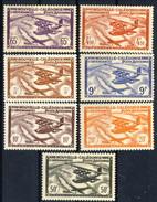 Nouvelle Caledonie Posta Aerea 1942-44 Serie N. 39-45 MNH E MVLH Cat. € 10,50 - Posta Aerea