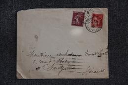 Enveloppe Timbrée De L'Ille Et Vilaine à Montpellier - Lettres & Documents