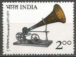 India  - 1977 Berliner Gramophone MNH **    SG 854  Sc 764 - Unused Stamps
