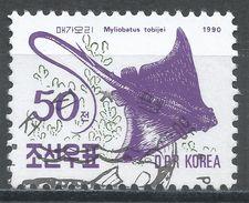 Korea, Democratic People's Republic 1990. Scott #2955 (U) Ray, Myliobatus Tobeijei, Raie, Fish, Poisson - Corée Du Nord